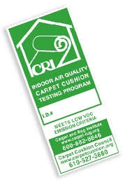 CRI Green Label Program for Carpet Cushion administered by Carpet Cushion Council